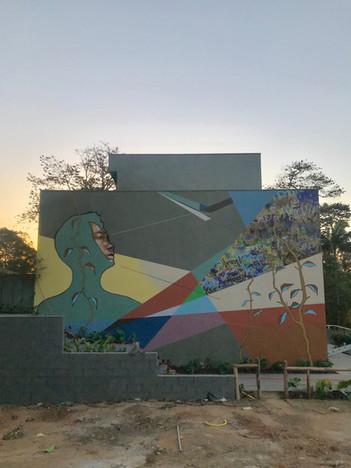 Mural created for GranLoft residencies, 2018