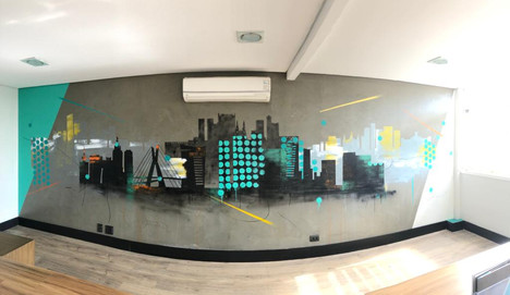 Mural created for Front Empreendimentos, 2020