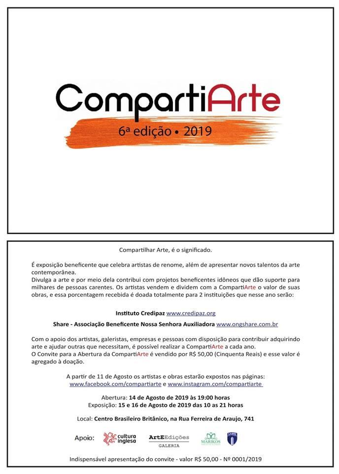 Exposição beneficente CompartiArte