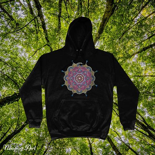 mandala hippy hoodie pullover
