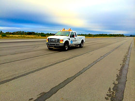 Runway Friction Tester on Airport Runways