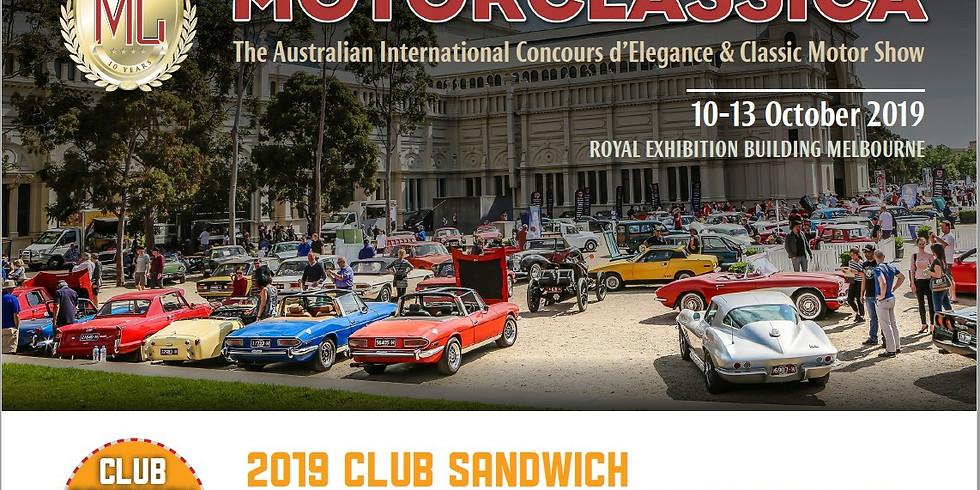 Motorclassica Club Sandwich display -13th October 2019
