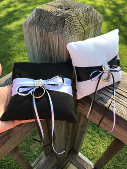 Mini His & Hers ring pillows