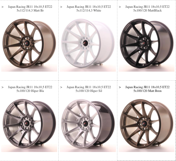 JR11 Wheels