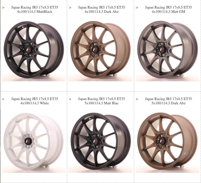 JR5 Wheels
