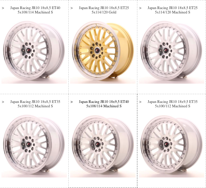 JR10 Wheels
