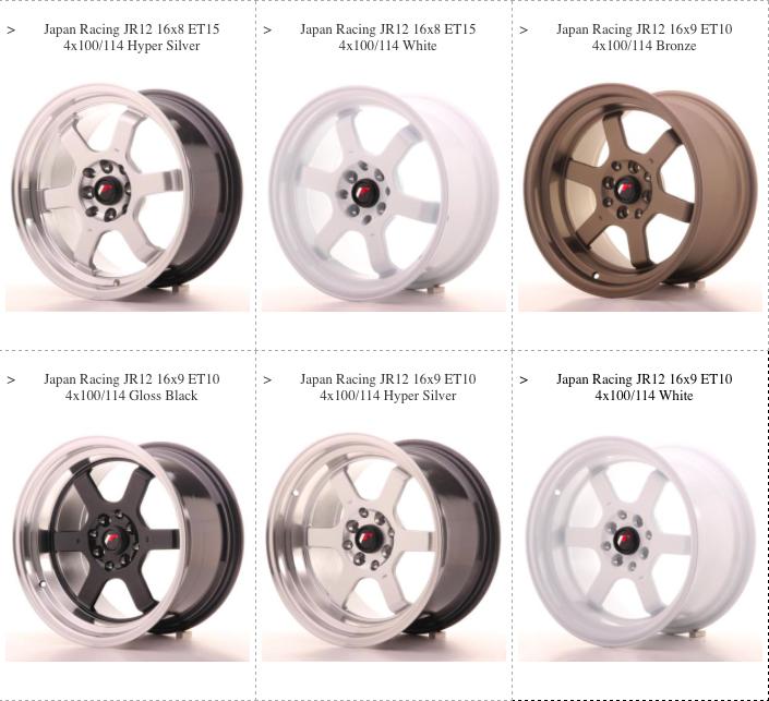 JR12 Wheels