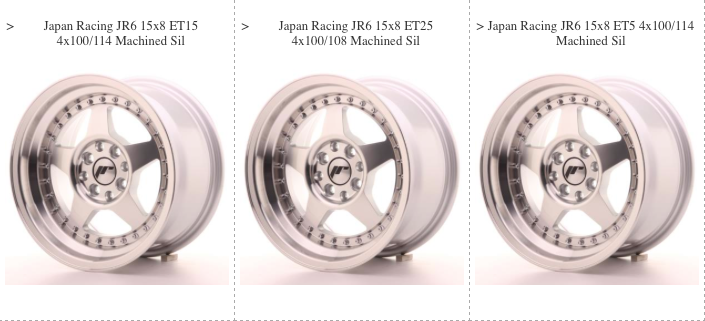 JR6 Wheels