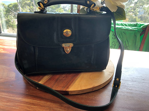 Vintage Italian green leather bag