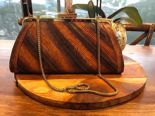 Vintage 1960's snakeskin handbag