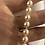 Thumbnail: Vintage 1950's hand knotted sea pearls with silver vintage clasp