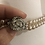 Thumbnail: Vintage 1950's glass ivory pearls with diamonte clasp