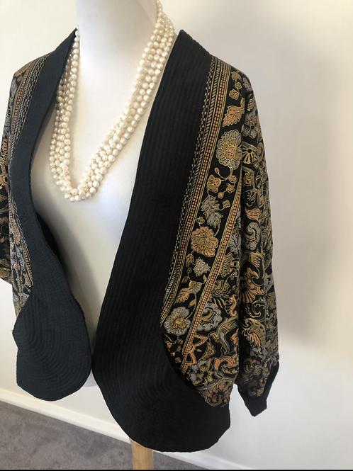 Vintage silk and cotton printed jacket