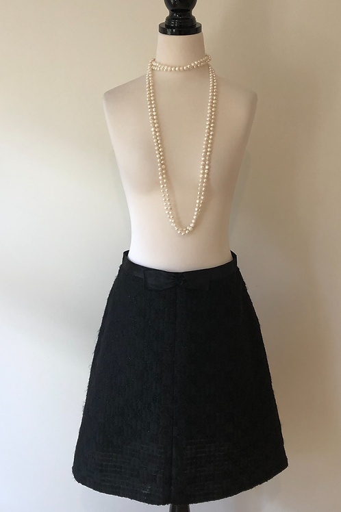 Rare Vintage 1950's french pure wool bow skirt