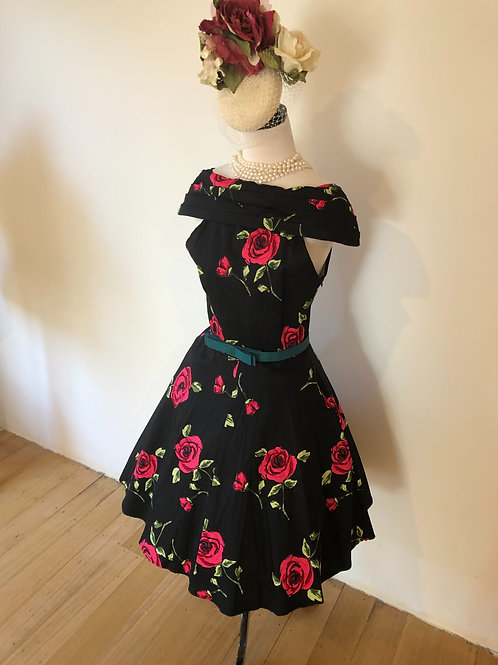 1950's style cotton floral frock