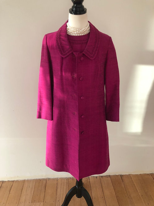 Rare 1950's raw silk austrlian made purple suit