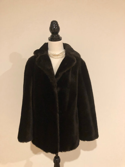 Vintage 1950's faux fur jacket