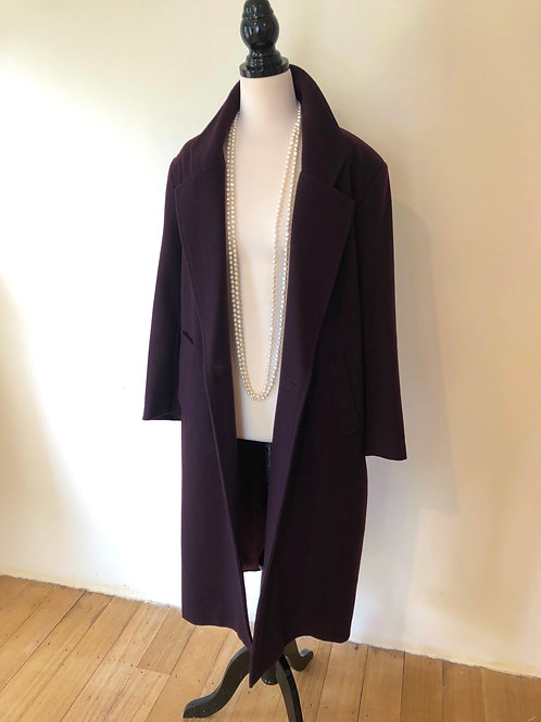 Vintage Australian made wool plum long coat