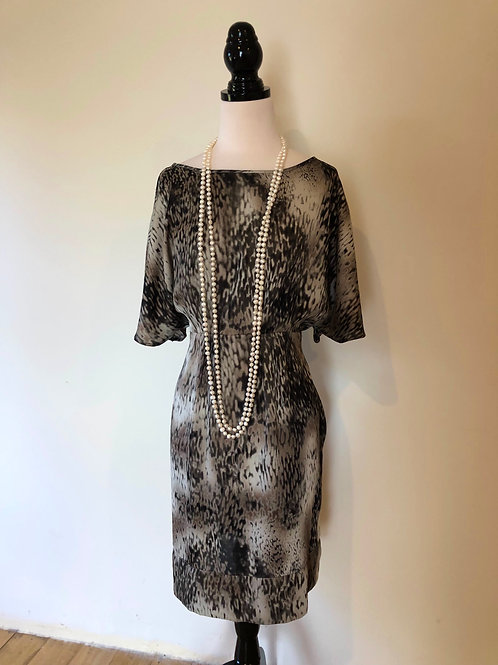 Designer silk leopard print dress