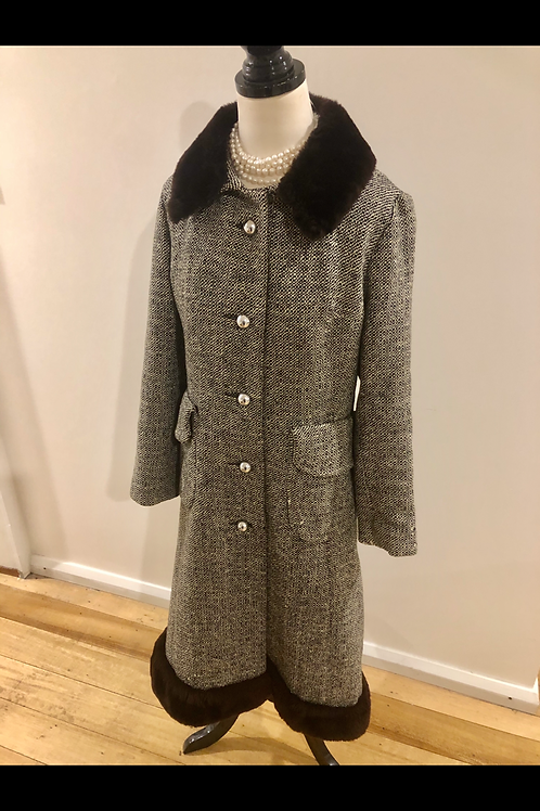 Amazing rare Vintage 1950's wool coat