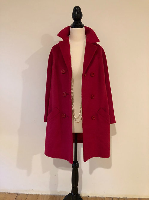 Vintage 1950's mohair and wool pink coat