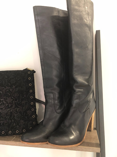 Witchery black leather long boots