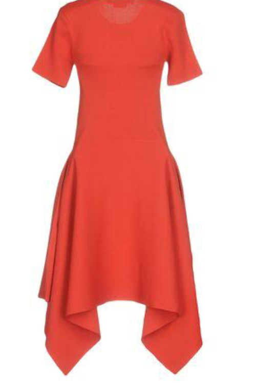 Designer brand new knit red dress