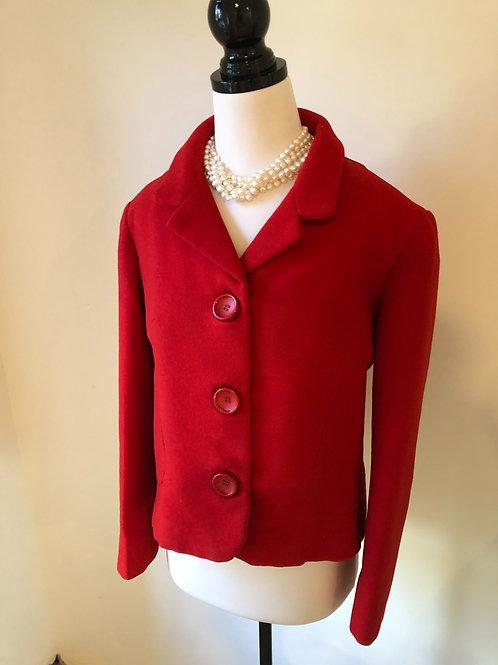 Vintage 1950's red wool blazer