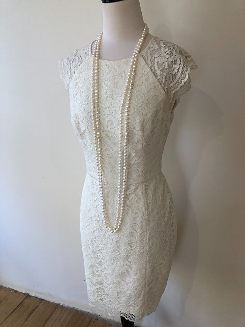 Brand new forever new light ivory lace French scalloped lace dress
