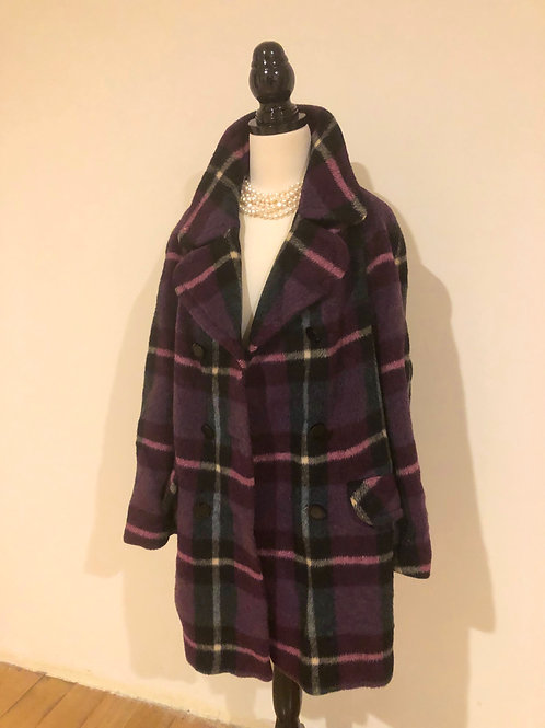 Vintage soft mohair and wool cashmere coat