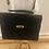 Thumbnail: Vintage 1980's black faux crocodile print satchel