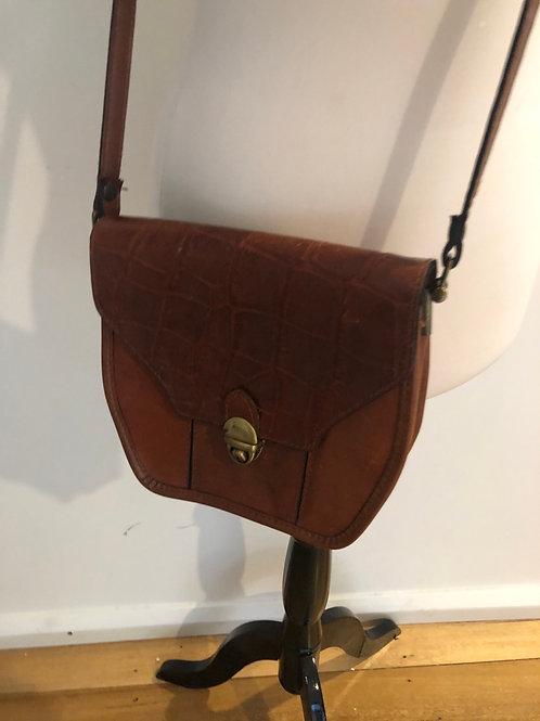 Vintage leather Italian shoulder bag