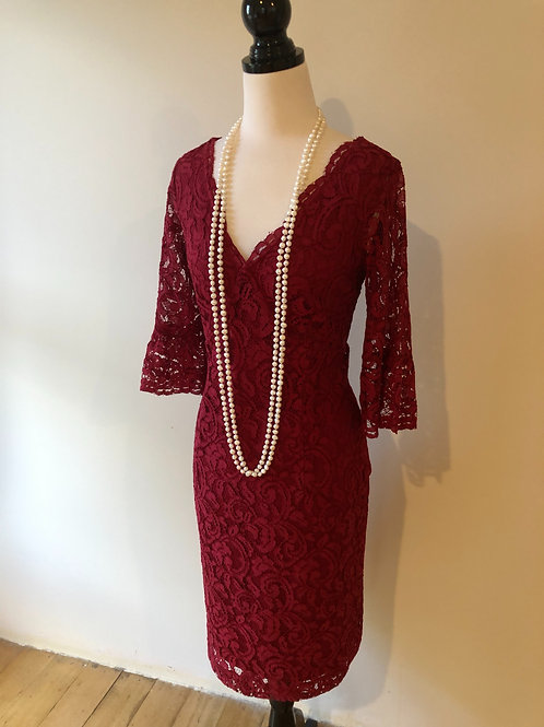 Brand new Harlow lace burgundy evening dress