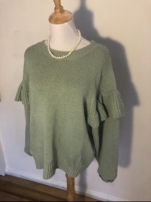 Decubja wool blend mint jumper
