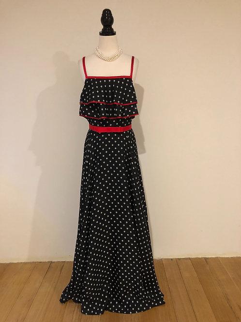 Vintage rare 1970's long maxi gown