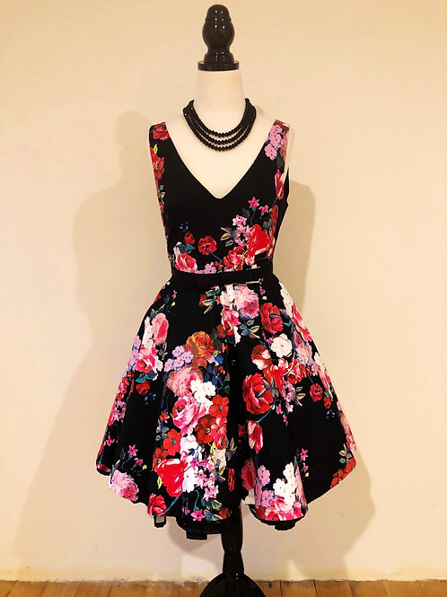 Floral cotton sateen frock