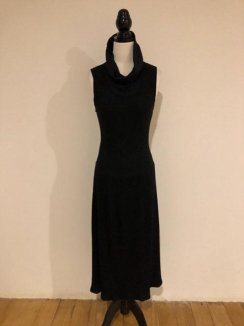 Katie's vintage wool blend black dress