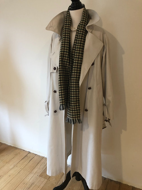 Vintage rare trench coat with original matching wool scarf