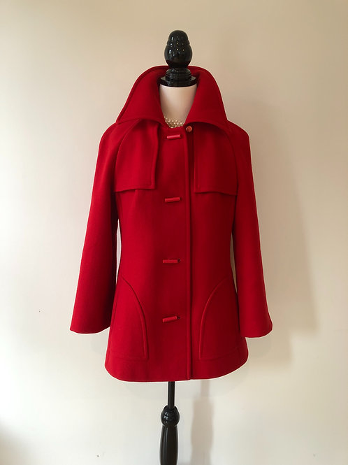 Vintage 1960's red wool coat ❤️