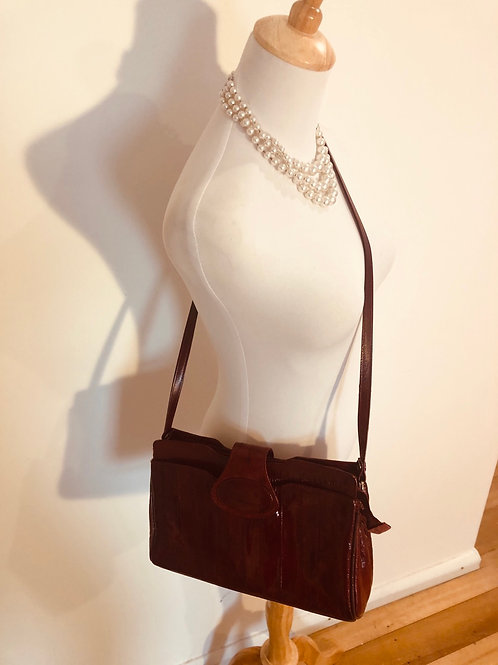 Vintage 1970's leather eel leather bag