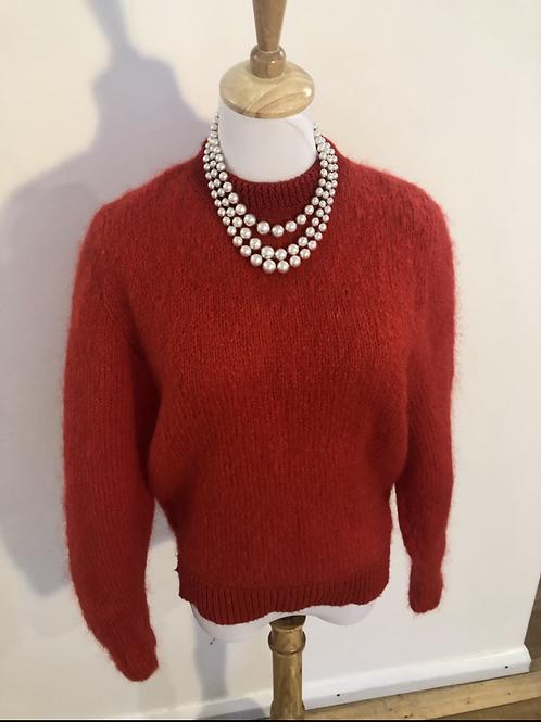 Vintage angora red jumper