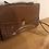 Thumbnail: Vintage leather tan 1970's satchel bag