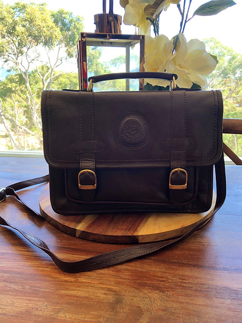 Vintage Italian leather satchel bag