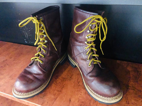 Vintage burgundy leather caterpilla  boots