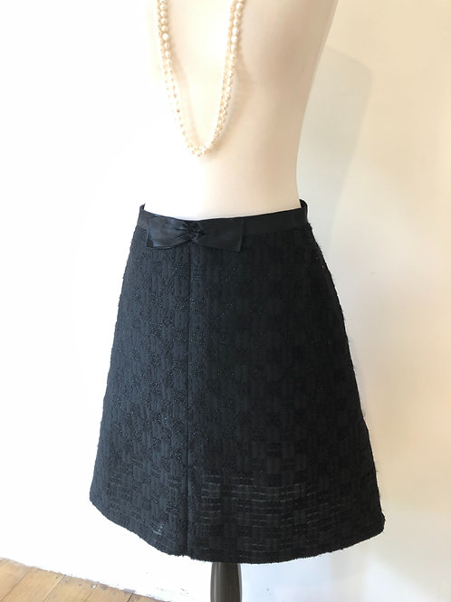 French Chanel look 1950's silk and wool Skirt