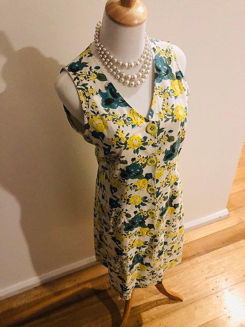 Vintage floral linen gorgeous frock