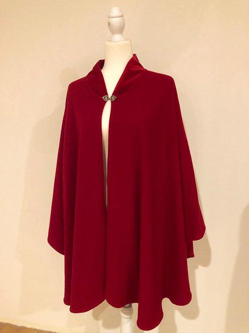 Vintage Italian red wool cape