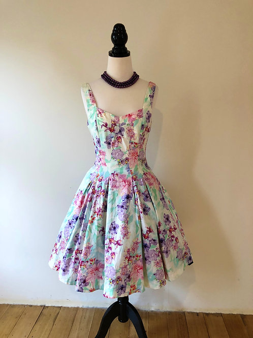 Forever new cotton sateen 1950's style frock