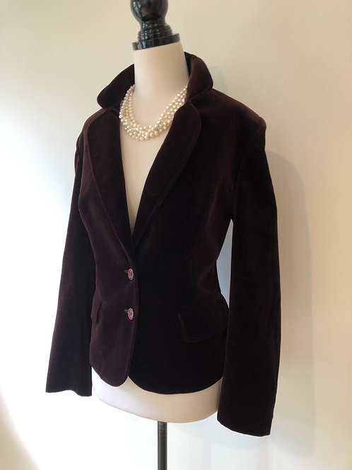 Vintage dark plum velvet jacket