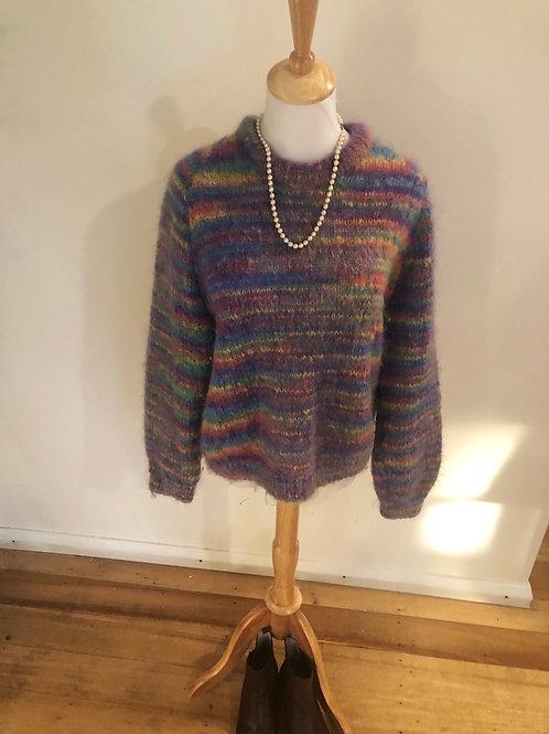 Vintage Tasmanian handmade soft wool knit jumper
